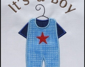 INSTANT DOWNLOAD It's a Boy Little Brother Big Brother Applique designS