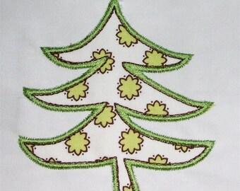 INSTANT DOWNLOAD Yule Tree C Applique designs