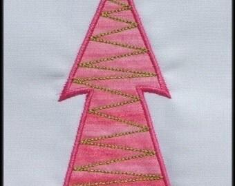INSTANT DWONLOAD Be Merry Christmas tree E Applique designs