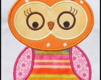 INSTANT DOWNLOAD Miss Owl Applique designs