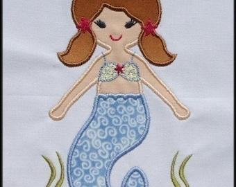 INSTANT DOWNLOAD Star Mermaid Applique designs