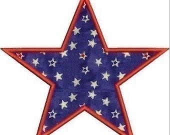 INSTANT DOWNLOAD Star Applique designs