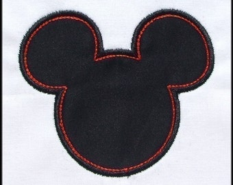 INSTANT DOWNLOAD Mouse Ears Applique and fill designs