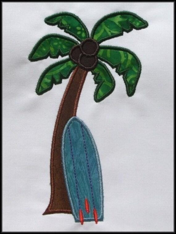 INSTANT DOWNLOAD Tropical Surf Applique designs