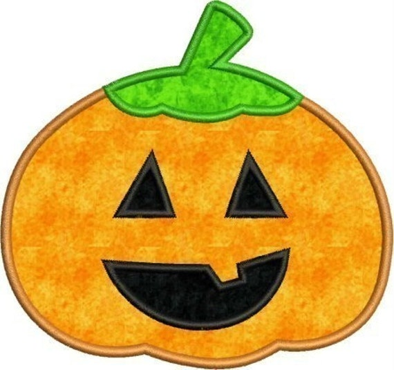 INSTANT DOWNLOAD Halloween Pumpkin Applique designs 3 sizes