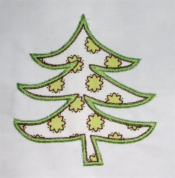 INSTANT DOWNLOAD Yule Tree C Applique designs