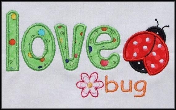 INSTANT DOWNLOAD Love bug Applique design