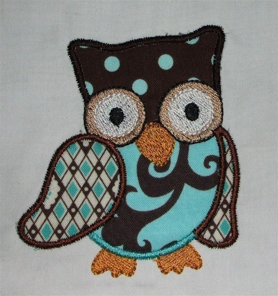 INSTANT DOWNLOAD owls Applique set designs 4x4 hoop