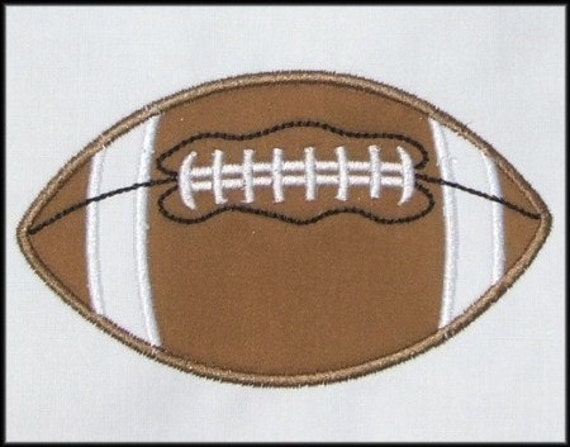 INSTANT DOWNLOAD Football Applique designs 3 sizes