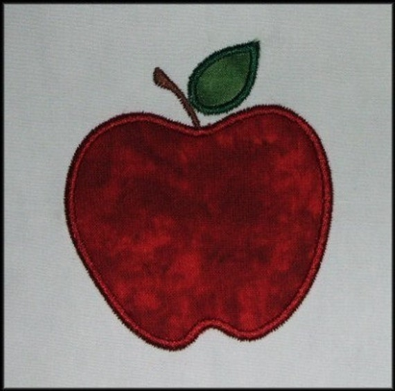 INSTANT DOWNLOAD Apple Applique designs 3 sizes