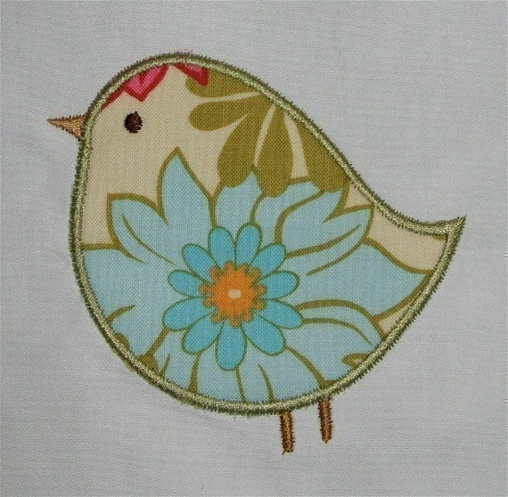 Adorable birds machine embroidery applique designs and