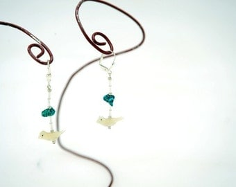 MOP and Turquoise Earrings