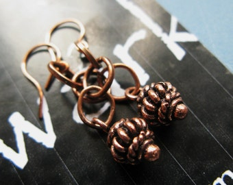 Magic lamp copper rings and lantern drop earrings ONLY ONE