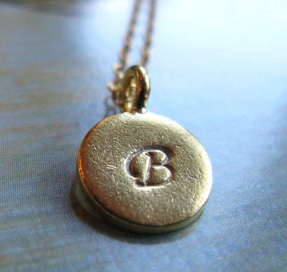 Elegant Name tag necklace 24K Custom hand stamped script initial necklace a b c d e f g h i j k l m n o p q r s t u v w x y z