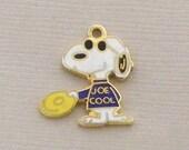 Aviva Vintage Snoopy Joe Cool Frisbee Charm 0044