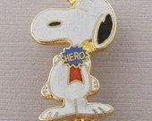 Aviva Vintage Snoopy HERO Pin  Enamel Cloisonne 1047