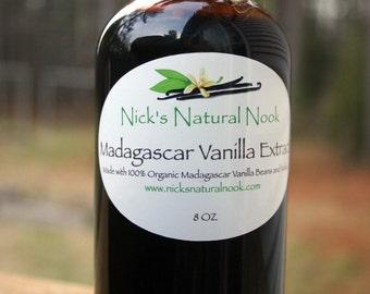 Vanilla Extract ORGANIC Madagascar 8oz.