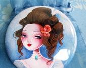 "Pocket mirror ""Princesse Jeanne"""