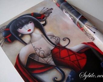 Poster A2 Les peignes noirs