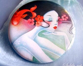 Pocket mirror Mermaid princess