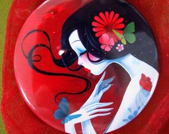 """Pocket mirror """"Coeur de Papillon"""""""