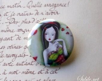 Button Miss coquelicot