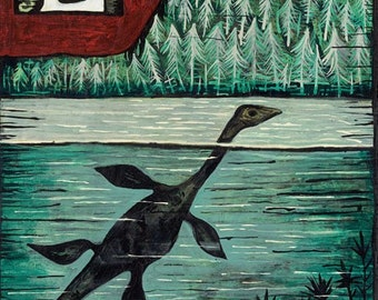 L is for Lake Monster