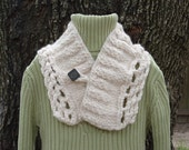 Beautiful thick knit and crocheted scarf RESERVED FOR CARDSANDCRAFT