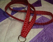 Lanyard in red geometirc