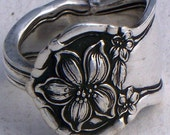 Spoon Ring Orange Blossom Pattern Size 10