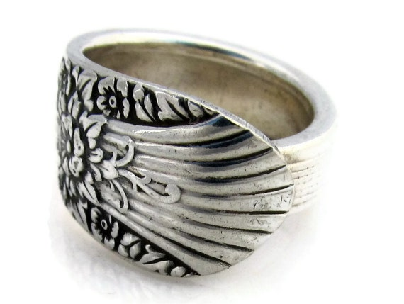 Spoon Ring Size 5 Silver Mist