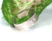 Sterling Silver Toe Ring, hammered adjustable