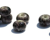 Grey Vine Fritties Handmade Lampwork Bead Set