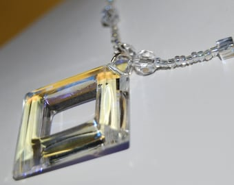 Square Crystal Pendant
