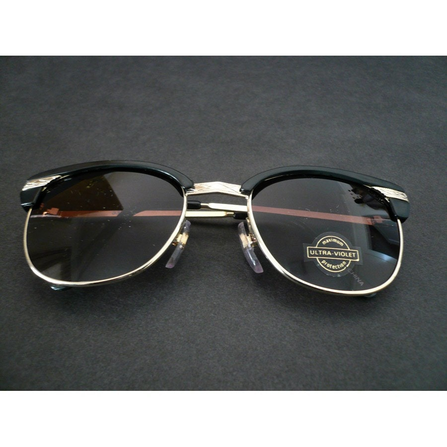 new stock nos vintage malcolm x style sunglasses