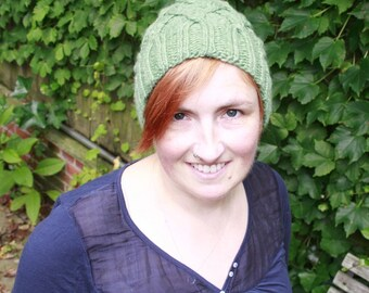 Knitting Pattern- Chain Link Cap- PDF download
