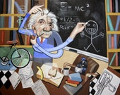 Einstein Can't Draw Poster Print Cubism Anthony Falbo