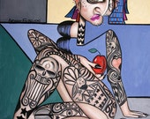 Can You See Me Now Cubist Print / Poster  Cubism Tatoo's Anthony Falbo