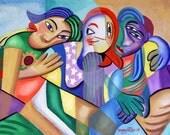Girfriend Poster / Print  Girls Cubism Anthony Falbo