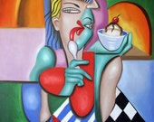 Cookies And Cream Print / Poster ice cream Cubism Woman Anthony Falbo