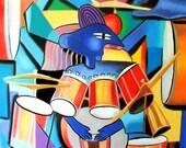 Little Drummer Boy Print Drums Music Singing Rock Jazz Blues Anthony Falbo