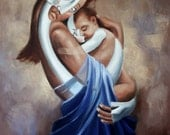 Working Mom print poster Baby cubism Anthony Falbo