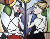 Mirror Mirror Poster Print Lady Cubism Anthony Falbo