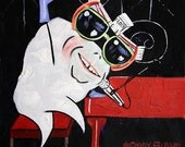 Sir Elton John Tooth Dental Art Print Collectable Teeth Dentist Anthony Falbo