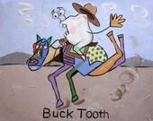 Buck Tooth Poster Print Dental Art Dentist Cubism Anthony Falbo
