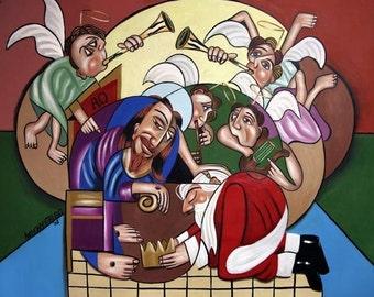 Good And Faithful Servant Giclee Print Poster Jesus Santa Christmas Anthony Falbo