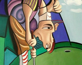 Par For The Course Print Poster Cubist Golf Anthony Falbo