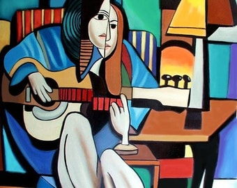 Lady With Guitar Print/Poster Anthony Falbo