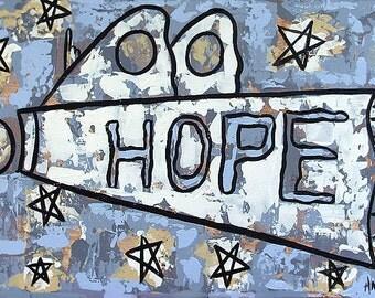 Hope Poster Original  Print  Jesus Holy Spirit Cubism Anthony Falbo