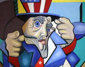 Uncle Sam 2001 Poster / Print Cubism American Anthony Falbo